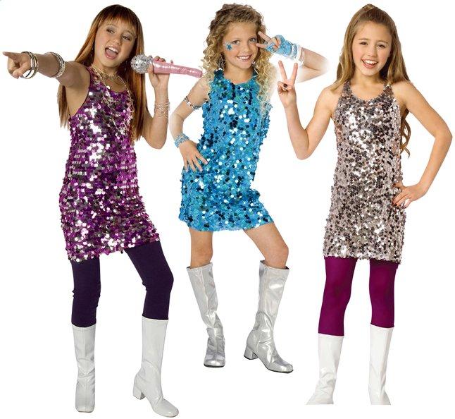 Image pour Déguisement pop star 7-9 ans rose à partir de ColliShop