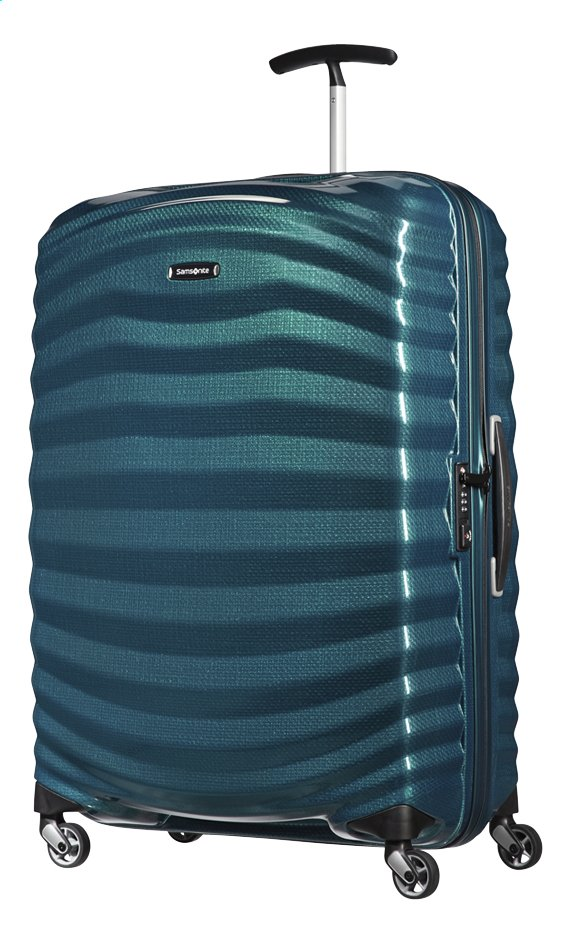 Afbeelding van Samsonite Harde reistrolley Lite-Shock Spinner petrol blue 75 cm from ColliShop