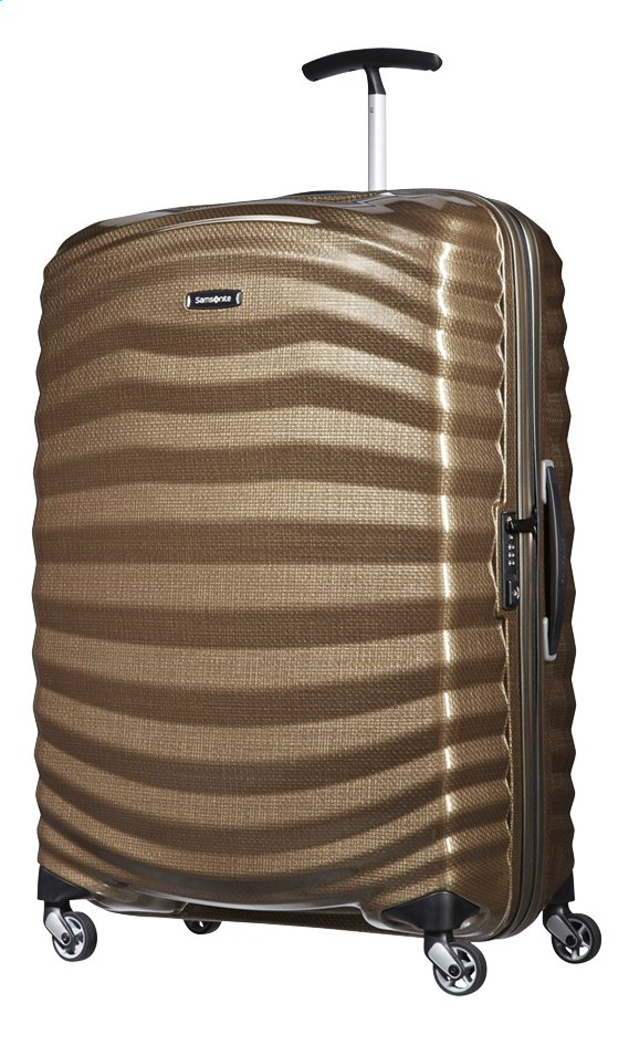 Afbeelding van Samsonite Harde reistrolley Lite-Shock Spinner sand 75 cm from ColliShop