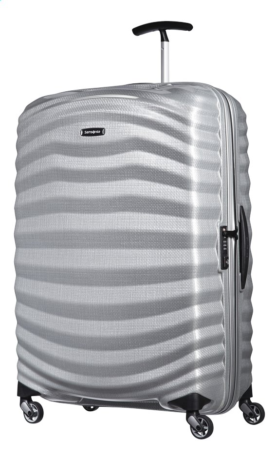 Afbeelding van Samsonite Harde reistrolley Lite-Shock Spinner silver 75 cm from ColliShop