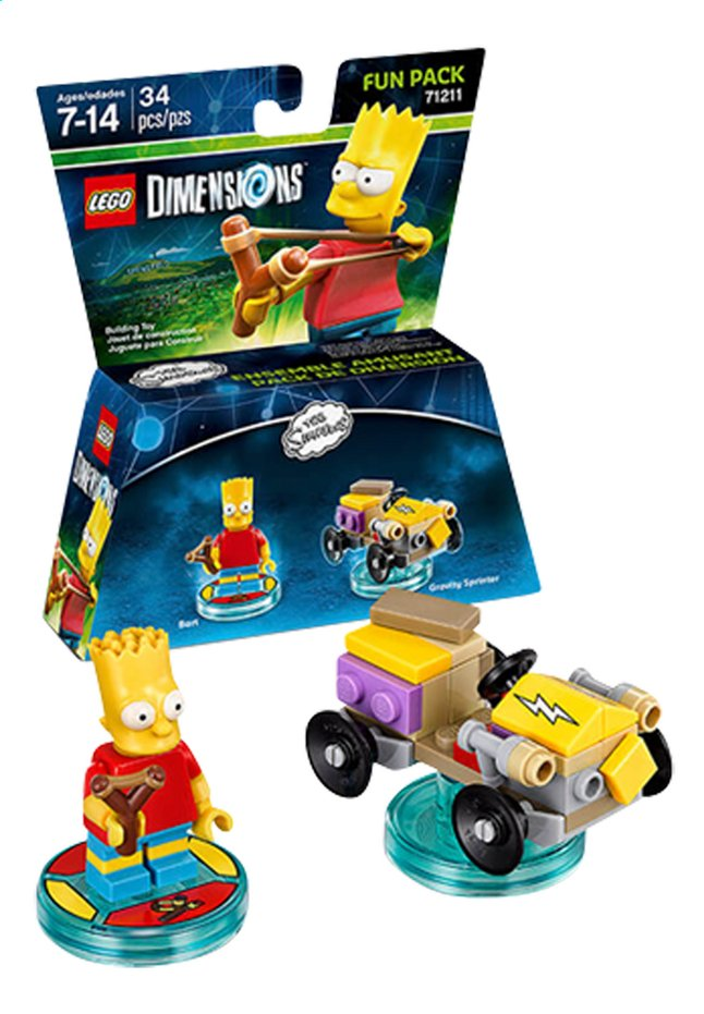 Afbeelding van LEGO Dimensions figuur Fun Pack Simpsons 71211 Bart from ColliShop