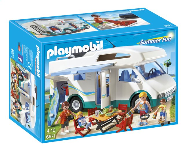 Afbeelding van Playmobil Summer Fun 6671 Grote familie-camper from ColliShop