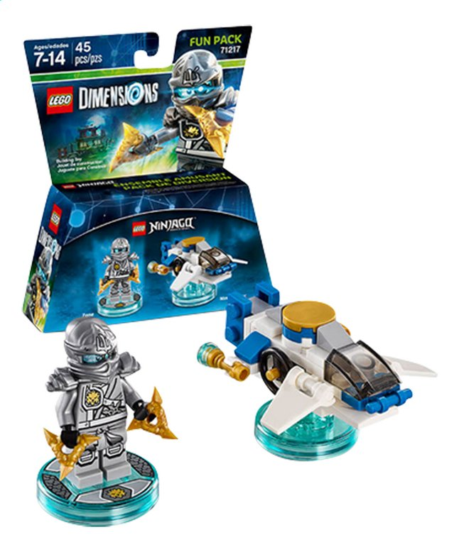 Afbeelding van LEGO Dimensions figuur Fun Pack Ninjago 71217 Zane from ColliShop