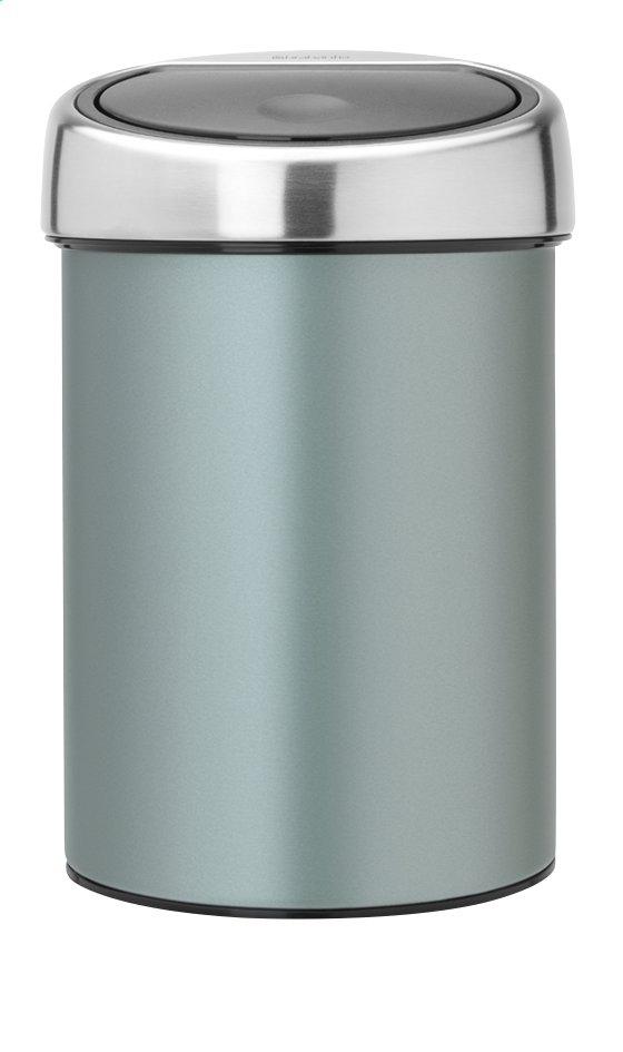 Afbeelding van Brabantia Afvalemmer Touch Bin metallic mint 3 l from ColliShop