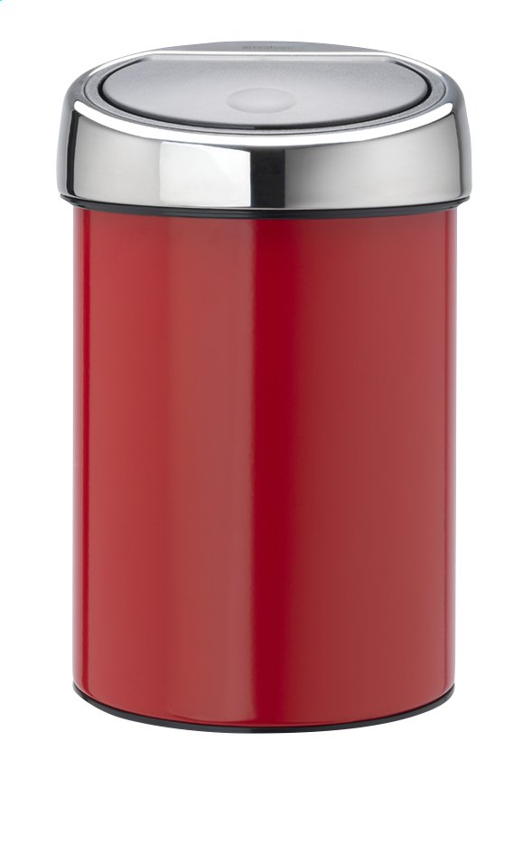 brabantia poubelle touch bin passion red 3 l collishop. Black Bedroom Furniture Sets. Home Design Ideas