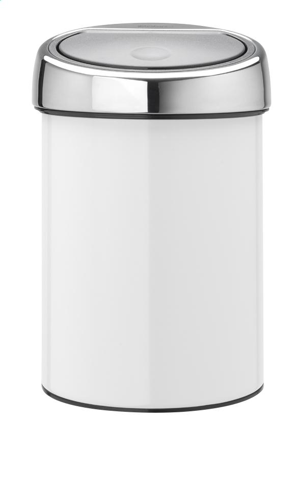 Afbeelding van Brabantia Afvalemmer Touch Bin wit 3 l from ColliShop