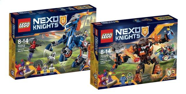 Afbeelding van LEGO Nexo Knights 70312 Lance's Mecha Paard + 70325 Infernox neemt koningin gevangen from ColliShop