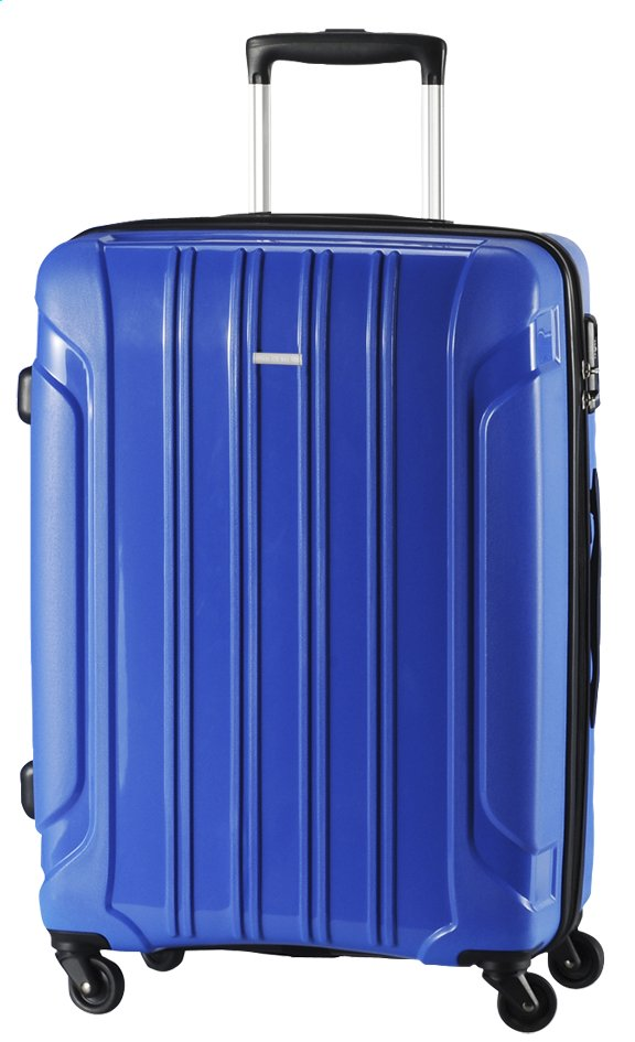 Afbeelding van Travelite Harde reistrolley Colosso Spinner blauw 55 cm from ColliShop