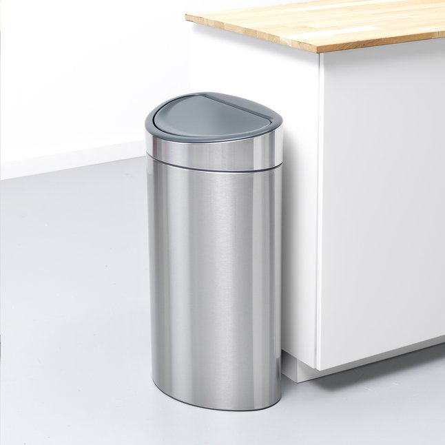 brabantia poubelle touch bin recycle matt steel 10 23 l. Black Bedroom Furniture Sets. Home Design Ideas