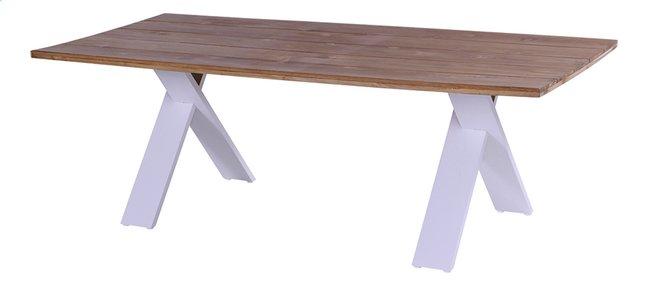 Image pour Hartman table de jardin Xanadu blanc L 220 x Lg 110 cm à partir de ColliShop