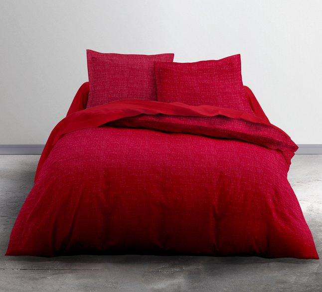 Today Dekbedovertrek Uni chiné flanel rood 240 x 220 cm