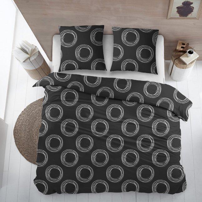 Image pour Housse de couette Como noir coton 200 x 220 cm à partir de ColliShop
