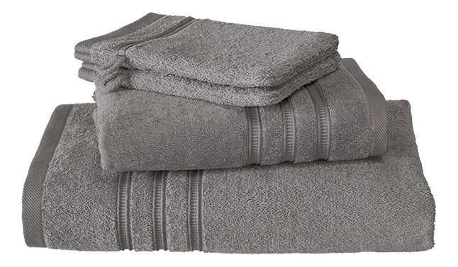De Witte Lietaer Set de serviettes 4 pièces Dolce steel grey