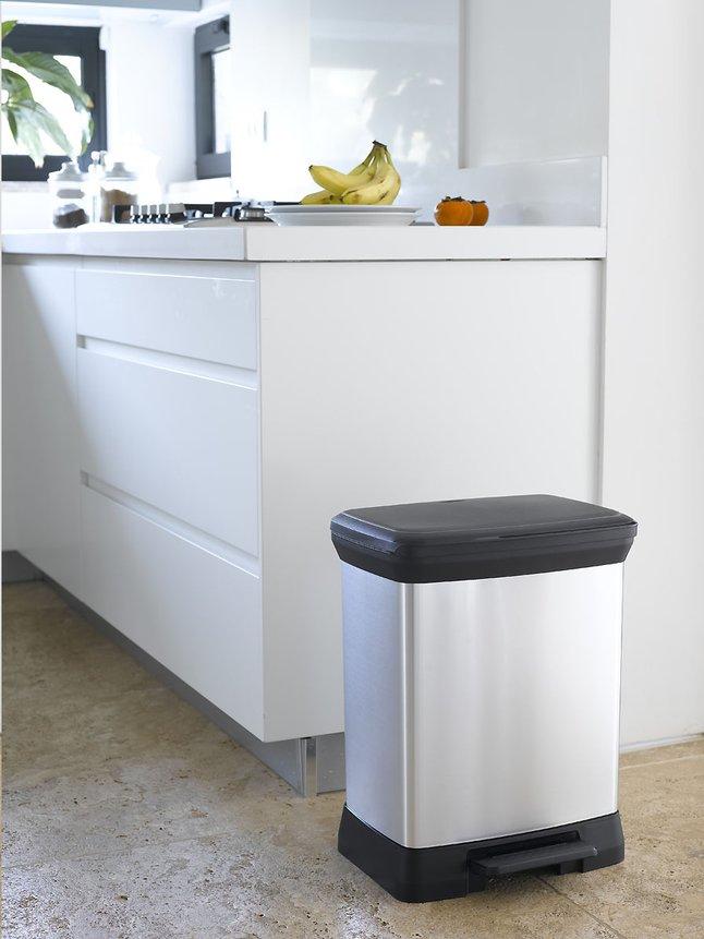 Image pour Curver Decobin poubelle à pédale 30 l argent à partir de ColliShop