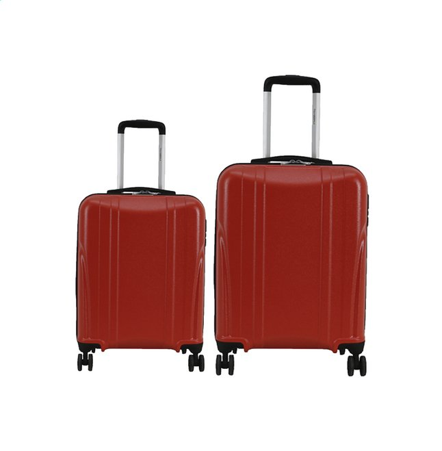 Transworld Set de valises rigides Citytrip Spinner bright red