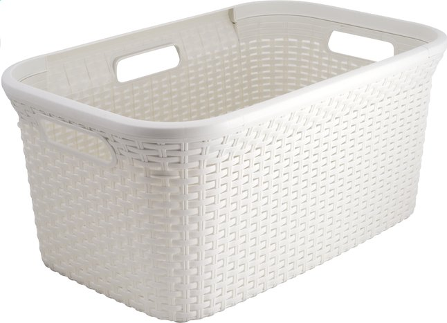 Afbeelding van Curver wasmand Natural 45 l wit from ColliShop