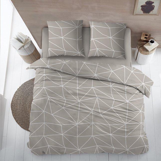 Home Style Housse De Couette Denmark Mastic Flanelle 270 X 220 Cm