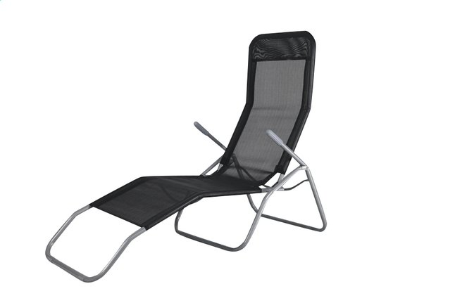 Image Pour Chaise Longue Lazy Lounger Siesta Beach Noir A Partir De ColliShop