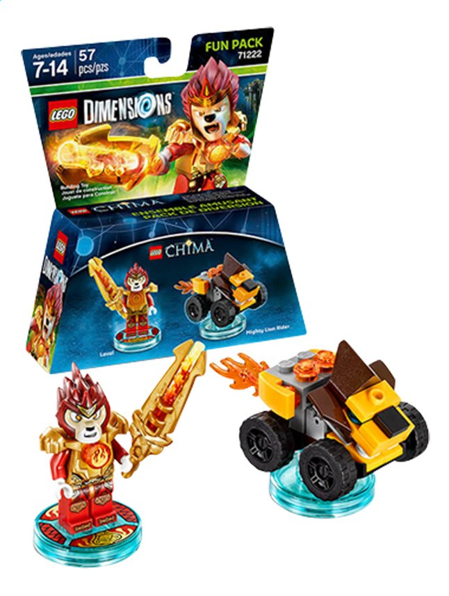 Afbeelding van LEGO Dimensions figuur Fun Pack Chima 71222 Laval from ColliShop