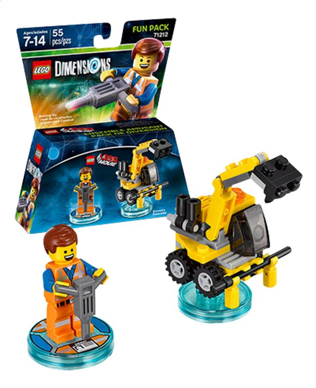 Image pour LEGO Dimensions figurine Fun Pack Movie 71212 Emmet à partir de ColliShop