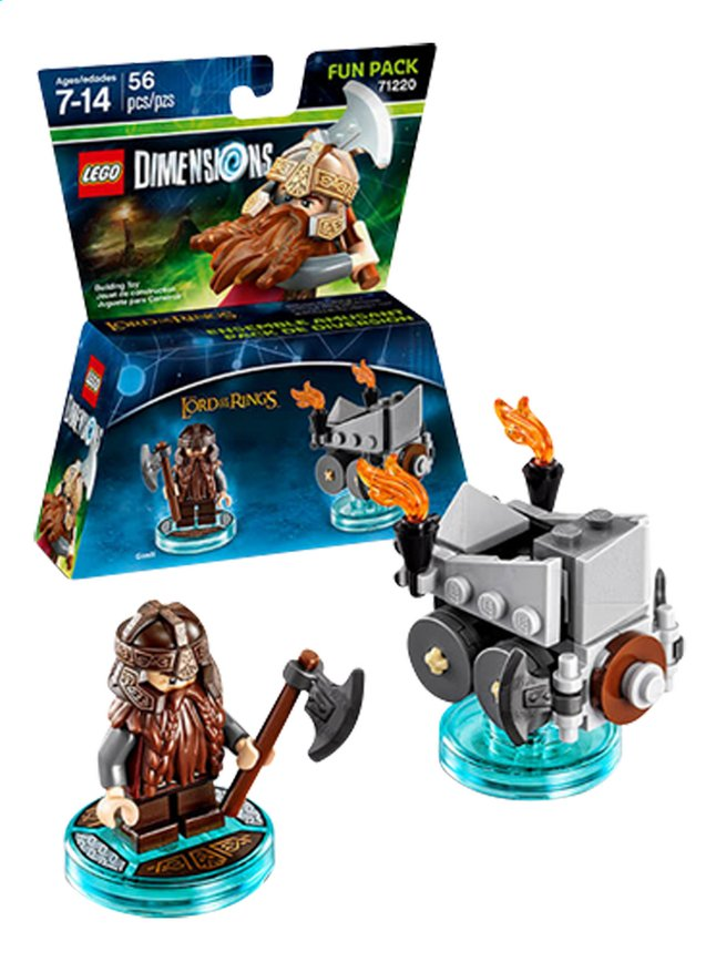 Image pour LEGO Dimensions figurine Fun Pack The Lord of the Rings 71220 Gimli à partir de ColliShop