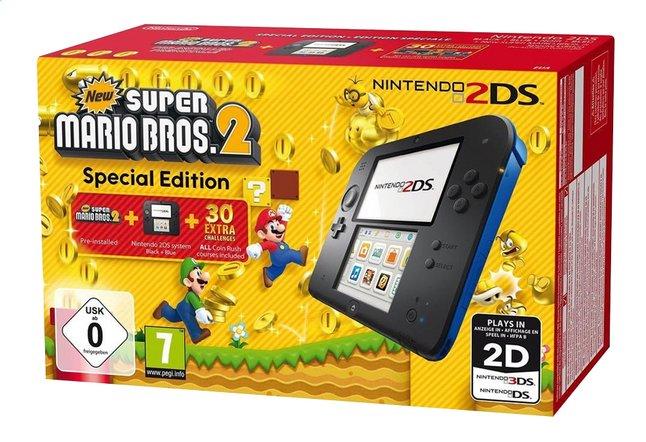 Image pour Nintendo 2DS console noir/bleu + New Super Mario Bros. 2 à partir de ColliShop