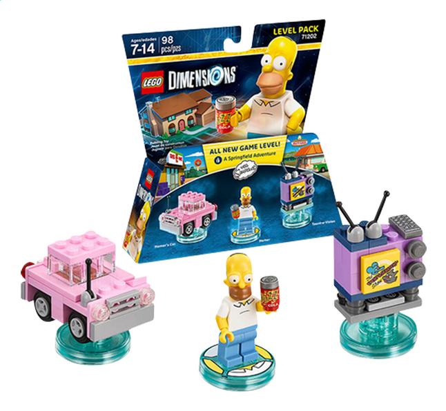 Afbeelding van LEGO Dimensions figuur Level Pack 71202 The Simpsons from ColliShop