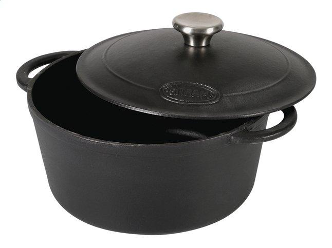 Image pour Sitram cocotte ronde Sitraslow noir 24 cm - 4 l à partir de ColliShop