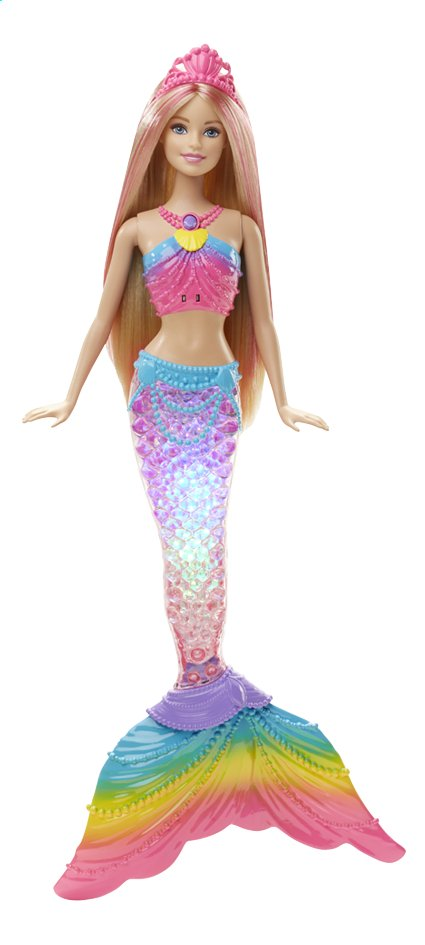 Afbeelding van Barbie mannequinpop Rainbow lights Mermaid from ColliShop