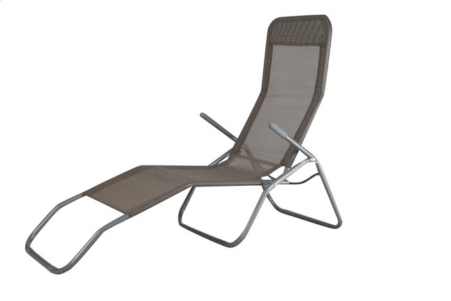 Chaise longue lazy lounger siesta beach beige collishop for Chaise longue siesta