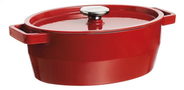 Pyrex Cocotte ovale SlowCook rouge 29 cm - 3,8 l