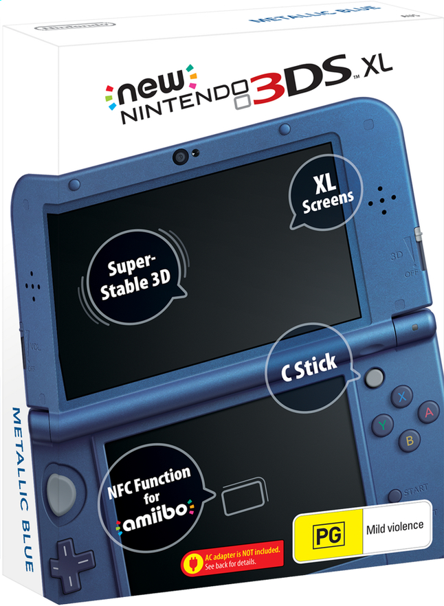 Image pour New Nintendo 3DS XL console Metallic Blue à partir de ColliShop