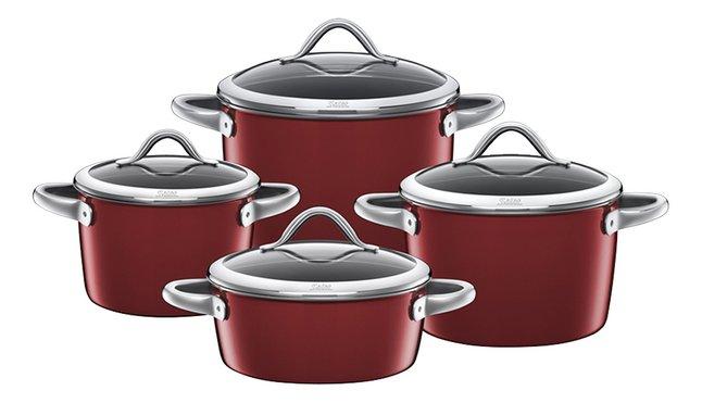 Image pour Silit set de 4 casseroles Vitaliano Rosso à partir de ColliShop