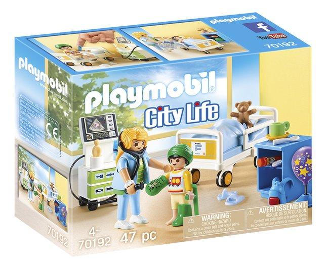 PLAYMOBIL City Life 70192 Chambre d'hôpital pour enfant