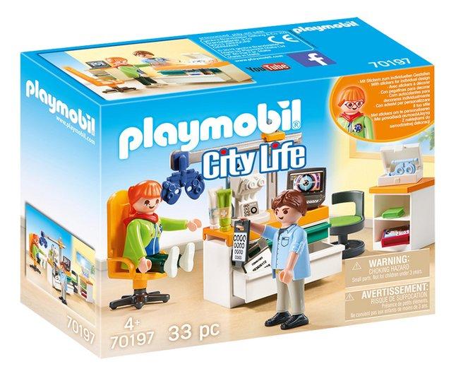 PLAYMOBIL City Life 70197 Cabinet d'ophtalmologie