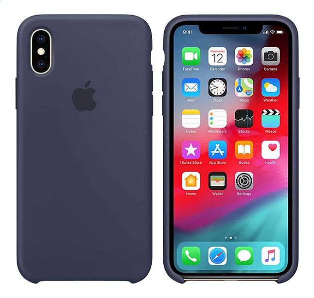 Afbeelding van Apple cover iPhone Xs silicone blauw from ColliShop