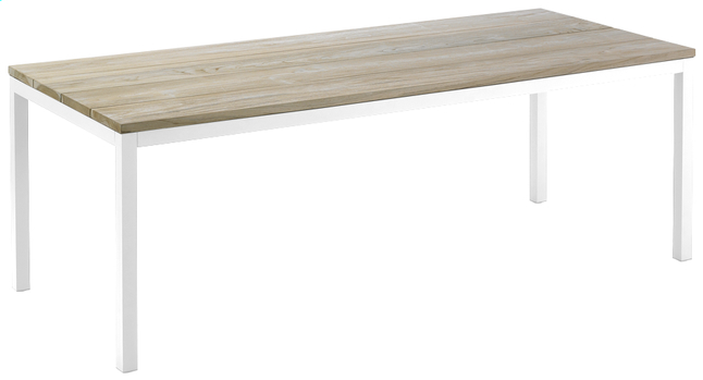 Afbeelding van Tuintafel Salerno grey wash/wit L 220 x B 90 cm from ColliShop