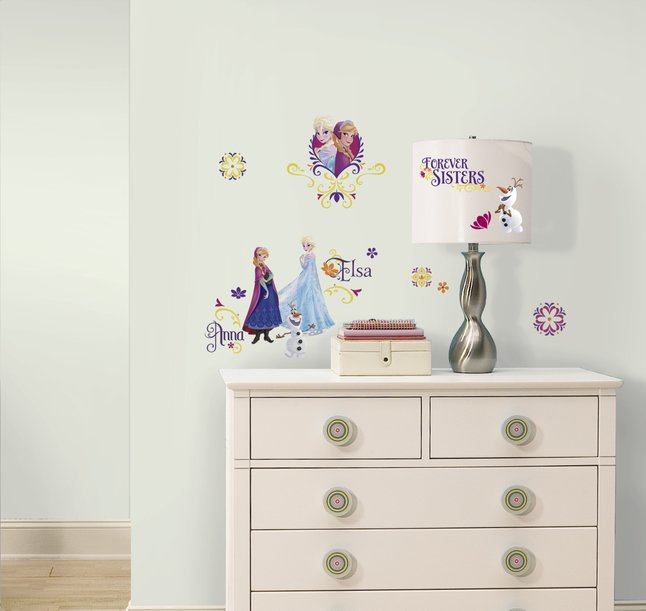 Afbeelding van 27 muurstickers Disney Frozen Spring Time from ColliShop