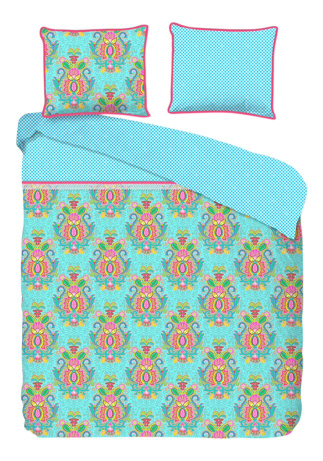 Happiness Housse de couette Yogi aqua percale