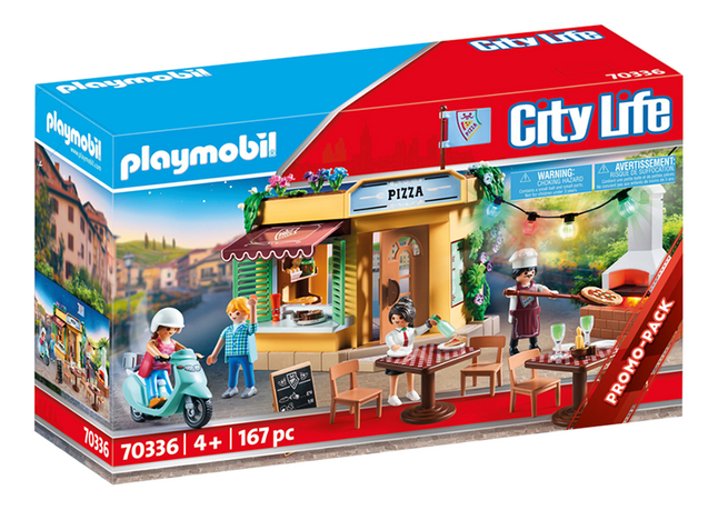 PLAYMOBIL City Life 70336 Pizzeria avec terrasse