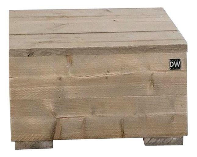 Dutchwood bijzettafel bruin 80 x 80 cm
