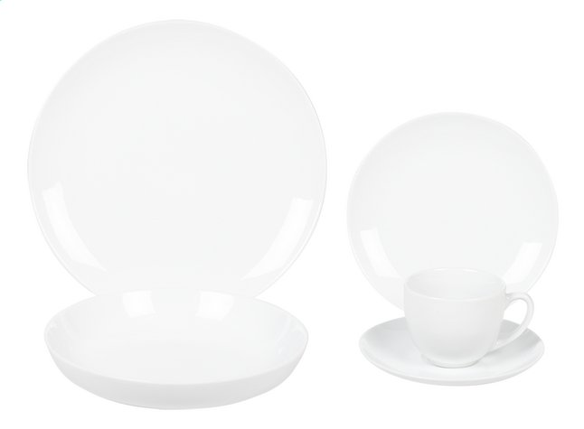30-delig servies Super White