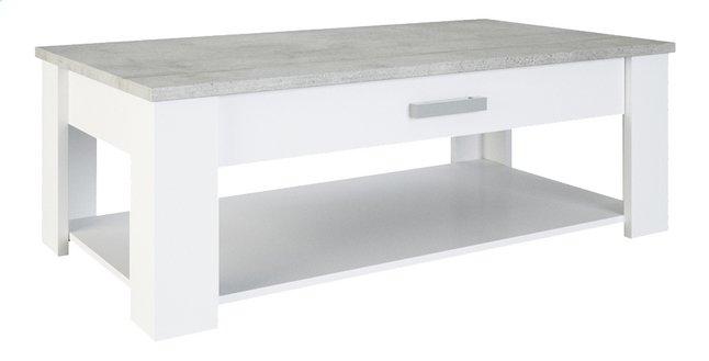 Image pour Demeyere Meubles Table basse Floride blanc/gris béton à partir de ColliShop