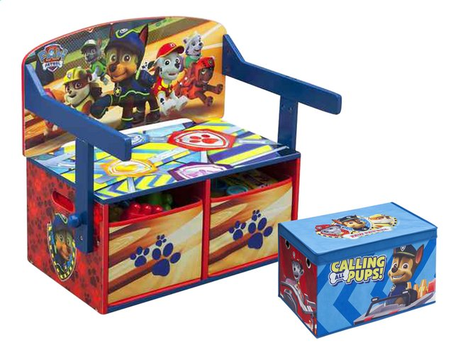 Afbeelding van 3-in-1-bankje PAW Patrol + speelgoedbox PAW Patrol from ColliShop