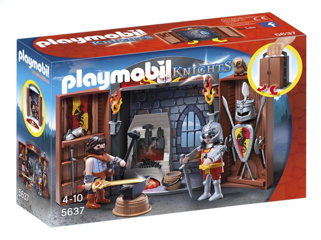 Afbeelding van Playmobil Knights 5637 Speelbox Ridder en Smid from ColliShop