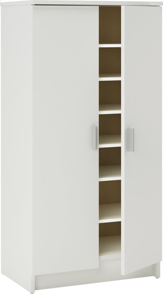 demeyere meubles armoire de rangement d cor blanc collishop. Black Bedroom Furniture Sets. Home Design Ideas