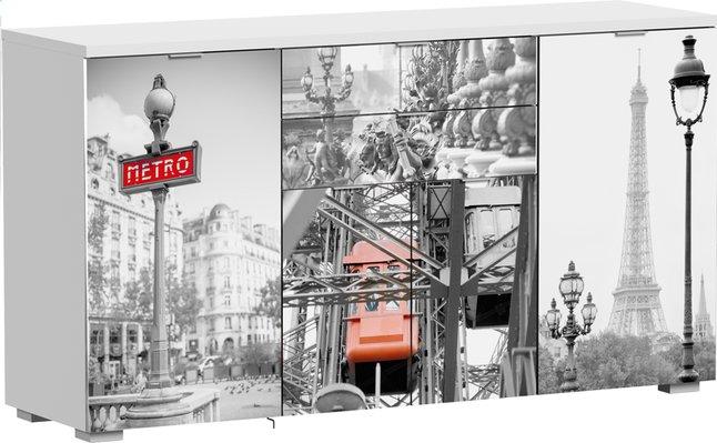 Afbeelding van Opbergkast met 4 draaideuren en 2 laden Paris from ColliShop