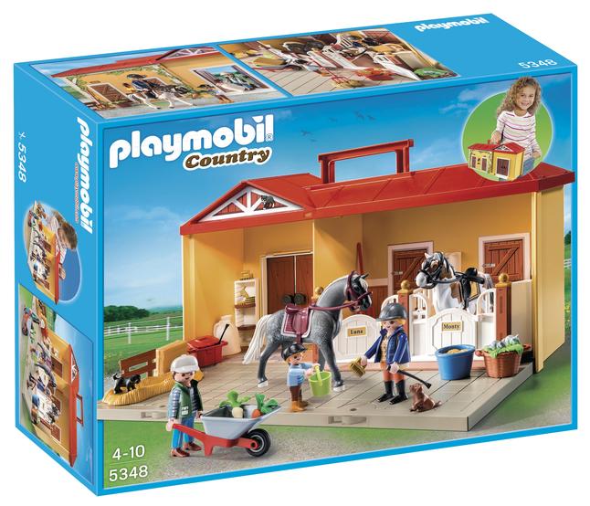 Image pour Playmobil Country 5348 Écurie transportable à partir de ColliShop