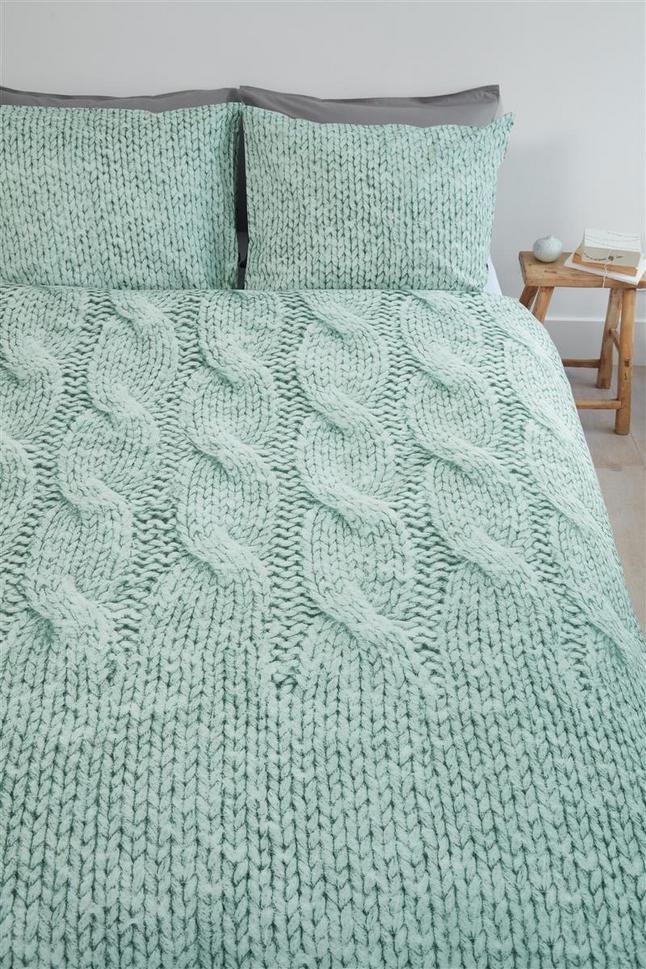 Afbeelding van Ariadne at Home Dekbedovertrek Cuddly green katoen 200 x 220 cm from ColliShop