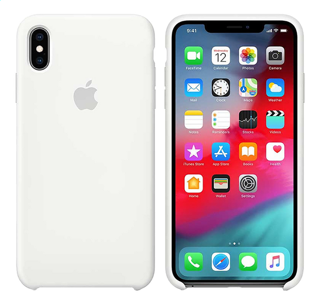 Afbeelding van Apple cover iPhone Xs Max silicone wit from ColliShop